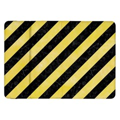 Stripes3 Black Marble & Yellow Watercolor (r) Samsung Galaxy Tab 8 9  P7300 Flip Case by trendistuff
