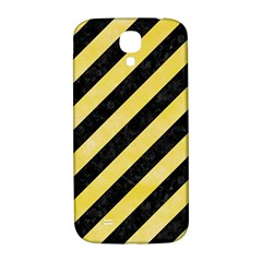 Stripes3 Black Marble & Yellow Watercolor (r) Samsung Galaxy S4 I9500/i9505  Hardshell Back Case by trendistuff