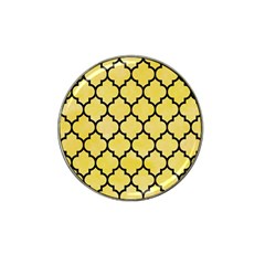 Tile1 Black Marble & Yellow Watercolor Hat Clip Ball Marker by trendistuff