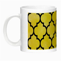 Tile1 Black Marble & Yellow Watercolor Night Luminous Mugs by trendistuff
