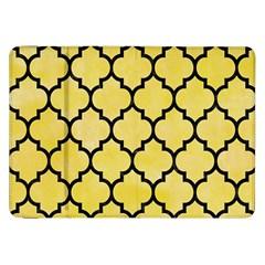 Tile1 Black Marble & Yellow Watercolor Samsung Galaxy Tab 8 9  P7300 Flip Case by trendistuff