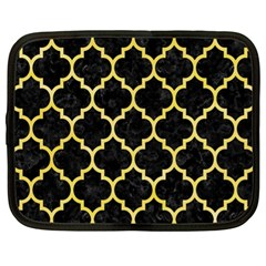 Tile1 Black Marble & Yellow Watercolor (r) Netbook Case (xl)  by trendistuff