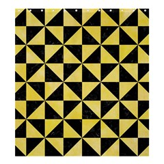 Triangle1 Black Marble & Yellow Watercolor Shower Curtain 66  X 72  (large)  by trendistuff