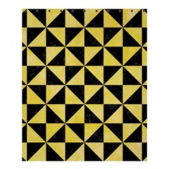 Triangle1 Black Marble & Yellow Watercolor Shower Curtain 60  X 72  (medium)  by trendistuff