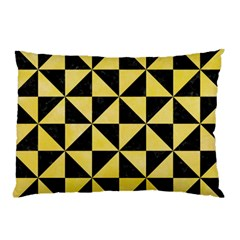Triangle1 Black Marble & Yellow Watercolor Pillow Case (two Sides) by trendistuff