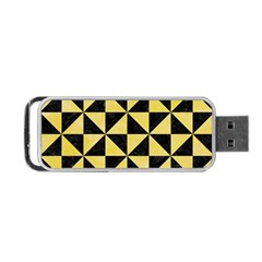 Triangle1 Black Marble & Yellow Watercolor Portable Usb Flash (one Side) by trendistuff