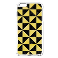 Triangle1 Black Marble & Yellow Watercolor Apple Iphone 6 Plus/6s Plus Enamel White Case by trendistuff