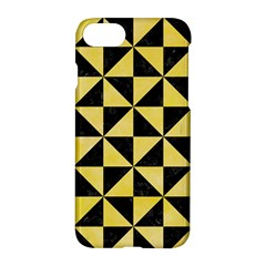 Triangle1 Black Marble & Yellow Watercolor Apple Iphone 7 Hardshell Case by trendistuff