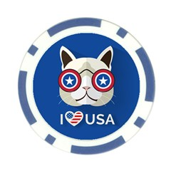 Usa Lips Poker Chip by Wanni