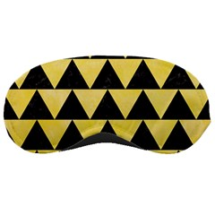 Triangle2 Black Marble & Yellow Watercolor Sleeping Masks by trendistuff