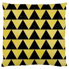 Triangle2 Black Marble & Yellow Watercolor Large Cushion Case (one Side) by trendistuff