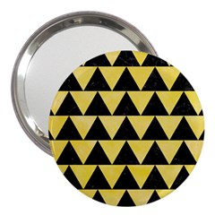Triangle2 Black Marble & Yellow Watercolor 3  Handbag Mirrors by trendistuff