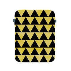 Triangle2 Black Marble & Yellow Watercolor Apple Ipad 2/3/4 Protective Soft Cases by trendistuff