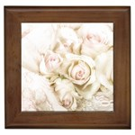 Pastel Roses Antique Vintage Framed Tiles