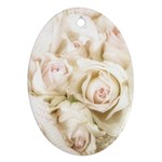Pastel Roses Antique Vintage Ornament (Oval)
