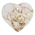 Pastel Roses Antique Vintage Ornament (Heart)