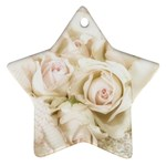 Pastel Roses Antique Vintage Ornament (Star)
