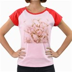 Pastel Roses Antique Vintage Women s Cap Sleeve T-Shirt