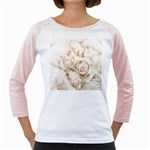 Pastel Roses Antique Vintage Girly Raglans