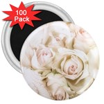 Pastel Roses Antique Vintage 3  Magnets (100 pack)