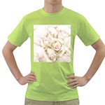 Pastel Roses Antique Vintage Green T-Shirt