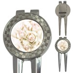 Pastel Roses Antique Vintage 3-in-1 Golf Divots