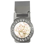 Pastel Roses Antique Vintage Money Clips (CZ)