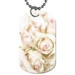 Pastel Roses Antique Vintage Dog Tag (Two Sides)