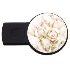 Pastel Roses Antique Vintage Usb Flash Drive Round (2 Gb) by Celenk