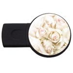 Pastel Roses Antique Vintage USB Flash Drive Round (2 GB)