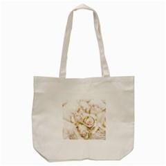 Pastel Roses Antique Vintage Tote Bag (cream)