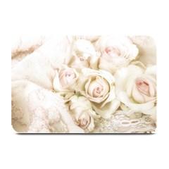 Pastel Roses Antique Vintage Plate Mats by Celenk