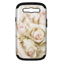 Pastel Roses Antique Vintage Samsung Galaxy S Iii Hardshell Case (pc+silicone) by Celenk