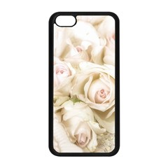 Pastel Roses Antique Vintage Apple Iphone 5c Seamless Case (black) by Celenk