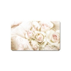 Pastel Roses Antique Vintage Magnet (name Card) by Celenk