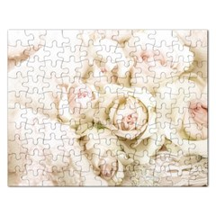 Pastel Roses Antique Vintage Rectangular Jigsaw Puzzl