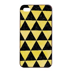 Triangle3 Black Marble & Yellow Watercolor Apple Iphone 4/4s Seamless Case (black) by trendistuff