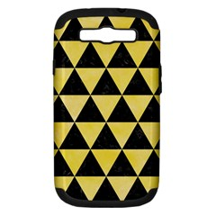 Triangle3 Black Marble & Yellow Watercolor Samsung Galaxy S Iii Hardshell Case (pc+silicone) by trendistuff