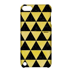Triangle3 Black Marble & Yellow Watercolor Apple Ipod Touch 5 Hardshell Case With Stand by trendistuff