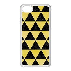 Triangle3 Black Marble & Yellow Watercolor Apple Iphone 8 Seamless Case (white)