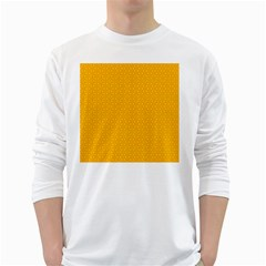 Texture Background Pattern White Long Sleeve T Shirts