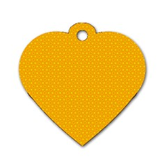 Texture Background Pattern Dog Tag Heart (two Sides)