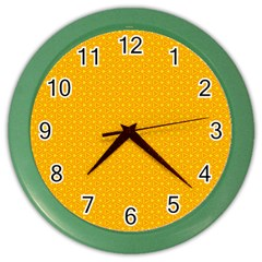 Texture Background Pattern Color Wall Clocks by Celenk