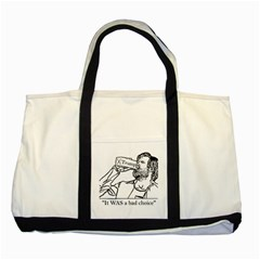 Trump Novelty Design Two Tone Tote Bag by PokeAtTrump