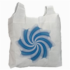 Prismatic Hole Blue Recycle Bag (one Side) by Mariart