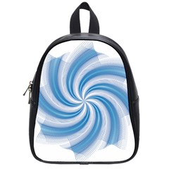 Prismatic Hole Blue School Bag (small) by Mariart