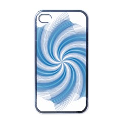 Prismatic Hole Blue Apple Iphone 4 Case (black) by Mariart