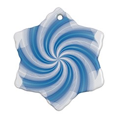 Prismatic Hole Blue Snowflake Ornament (two Sides) by Mariart