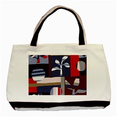 Surface Tree Polka Dots Basic Tote Bag (two Sides) by Mariart