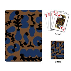 Superfiction Object Blue Black Brown Pattern Playing Card by Mariart